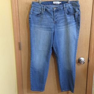 Torrid Denim Girlfriend Light Wash Button Fly Jean